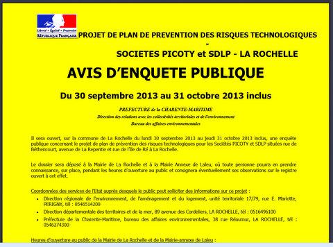 Enquête publique Picoty/Sdlp